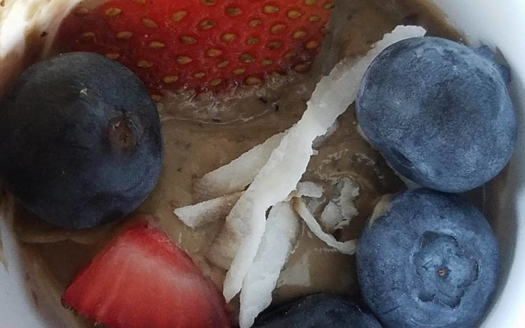 Red, White and Blue Summer Vegan Mousse